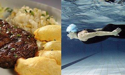 comer e nadar - foto